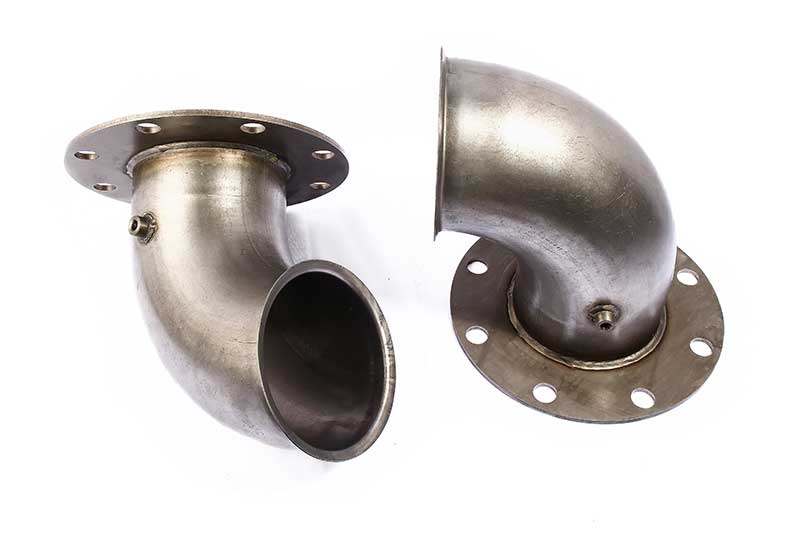 Mild steel assembly, flange and boss
